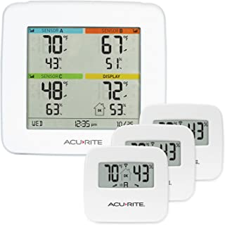 AcuRite 01095M Indoor Temperature & Humidity Station with 3 Sensors