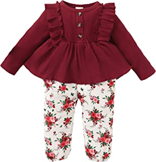 Toddler Girls Clothes Cute Baby Girl Floral Long Sleeve...