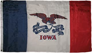 ALBATROS 3 ft x 5 ft State of Iowa Flag House Banner Super Polyester Grommets Premium for Home and Parades, Official Party, All Weather Indoors Outdoors