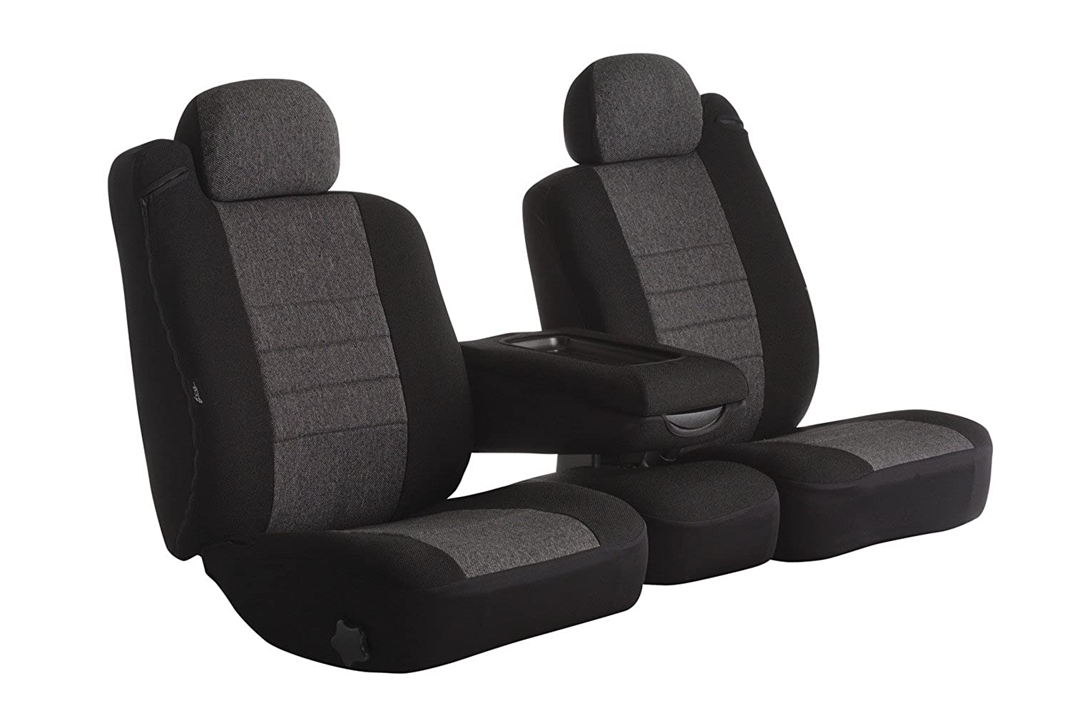 Fia OE37-30 CHARC Custom Fit Front Seat Cover Split Seat 40/20/40 - Tweed, (Charcoal)