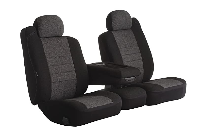 Fia OE38-27 CHARC Custom Fit Front Seat Cover Split Seat 40/20/40 - Tweed, (Charcoal)