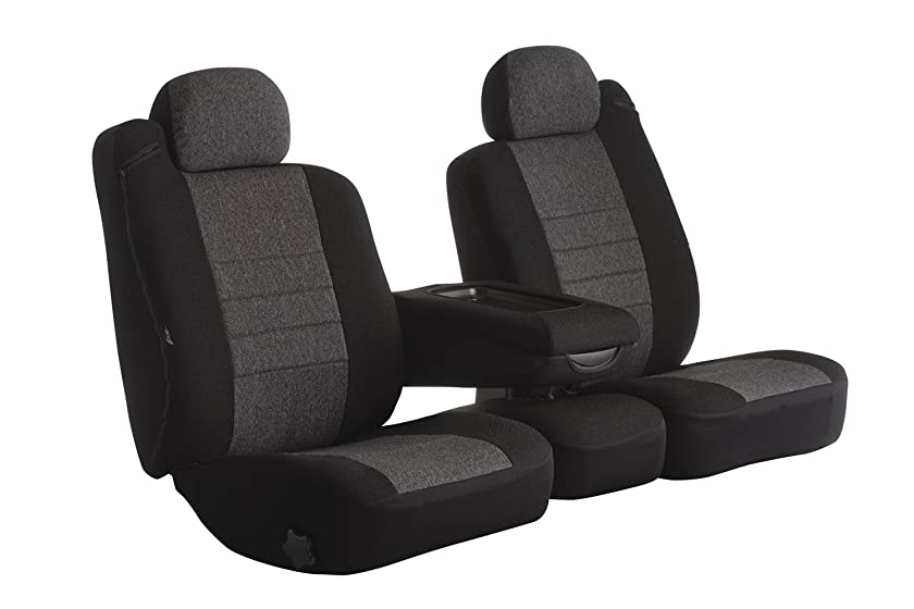Fia OE38-26 CHARC Custom Fit Front Seat Cover Bucket Seats - Tweed, (Charcoal)