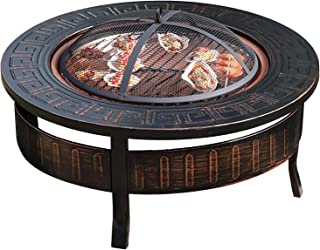 """Outdoor Fire Pit Outdoor Bonfire Pit, Garden Wood Burning, Used For Backyard Terrace BBQ And Barbecue Grill, 81cm/31.8"""" (C..."""