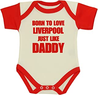Baby Bodysuit Born to Love Liverpool Like Daddy Clothes