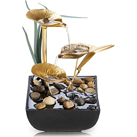 Indoor Water Lily Water Fountain-Small Size Makes This A Perfect Tabletop Decora