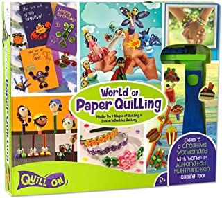 QUILL ON- Super Quiller- Motorized Multifunction Quilling Tool- Fun Craft Kit for Beginners to Experts- for Boys and Girls Above 8 Years (Multicolor, Quilling Set for Beginners)