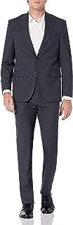 Men's Travel Ready Performance Suit, Grey Mini Check, 48R