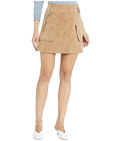 Free People Carson Utility Skirt (Sand) Women