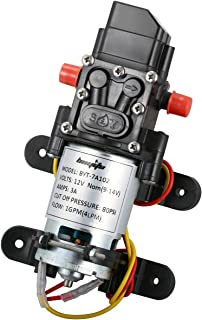 bayite 12V DC Fresh Water Pressure Diaphragm Pump with Hose Clamps Self Priming Sprayer..