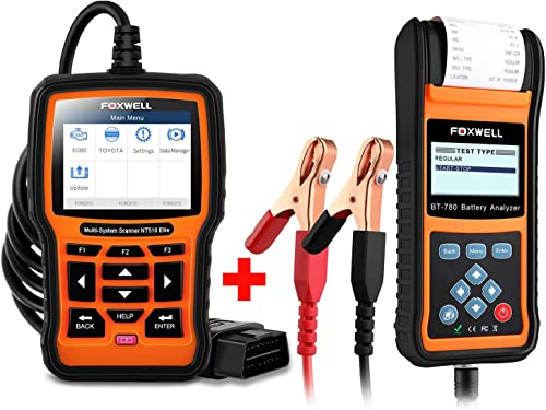2021 FOXWELL sale wholesale Car Battery Load Tester for 12V 24V Auto Batteries Analyzer with Built-in Thermal Printer with Foxwell NT510 for Toyota Car Scanner sale