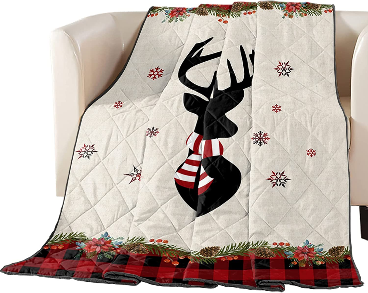Down We OFFer at cheap prices Alternative Reversible Comforter Blanket Max 51% OFF Quilted Throw Chri
