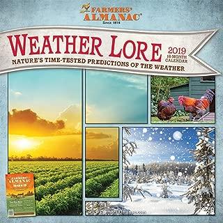 Farmers Almanac Weather Lore 2019 12 x 12 Inch Monthly Square Wall Calendar, Farm Gardening Health Organic