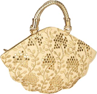 Fancy Haat Silk Ethnic Rajasthani Women's Potli Bag