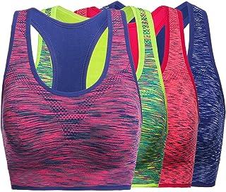 TOBWIZU Sports Bras,Seamless Bras Women - Comfortable Everyday Bras Yoga Bra Removable Pads