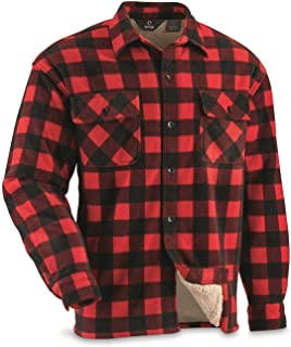Best men's buffalo plaid sherpa-lined shirt jacket Reviews
