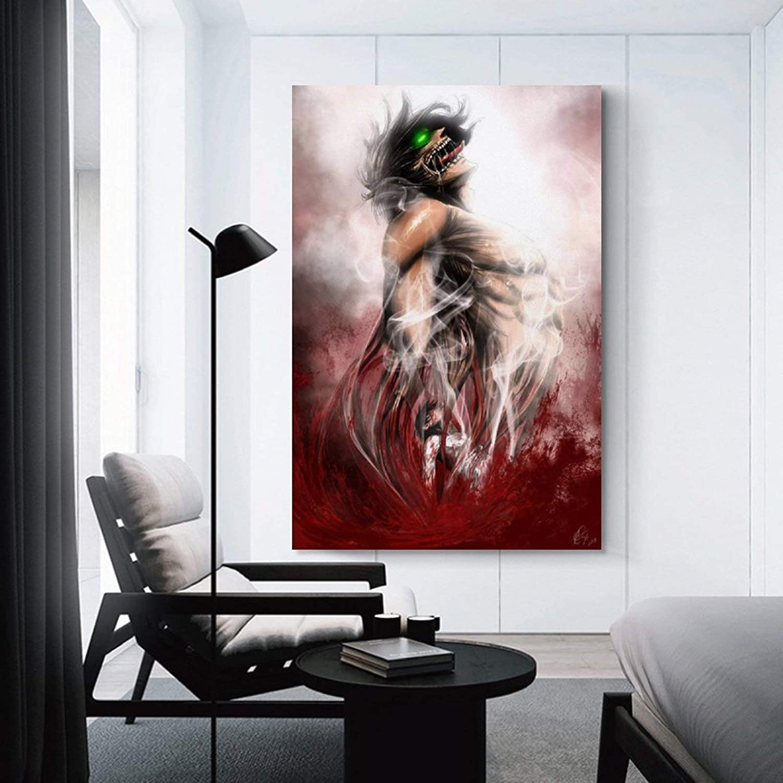 KEMS Poster d/écoratif sur toile repr/ésentant lattaque Titan partie 2 Gules 20 x 30 cm