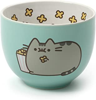 Pusheen by Our Name is Mud Stoneware Popcorn Snack Bowl, Green, 4