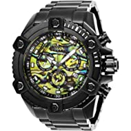 INVICTA Reserve Men 56mm Stainless Steel Black Yellow dial Z60 Quartz