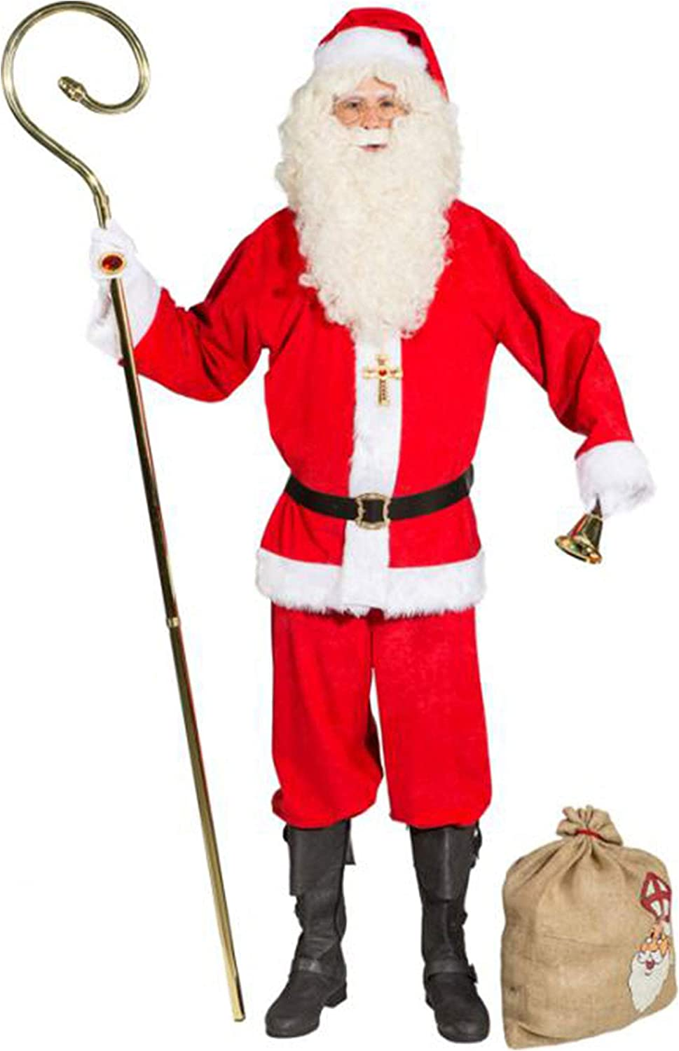Orlob Nicholas rod deluxe metal 4 parts bishop walking stick Santa Claus