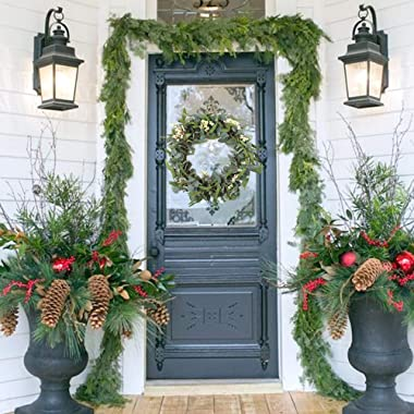 CEWOR Artificial Eucalyptus Wreath for Front Door 20inch Spring Summer Large Green Leaf Wreath for Festival Celebration Wall