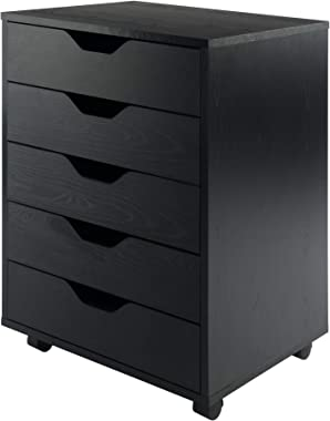Winsome Halifax Storage/Organization, 5 drawer, Black