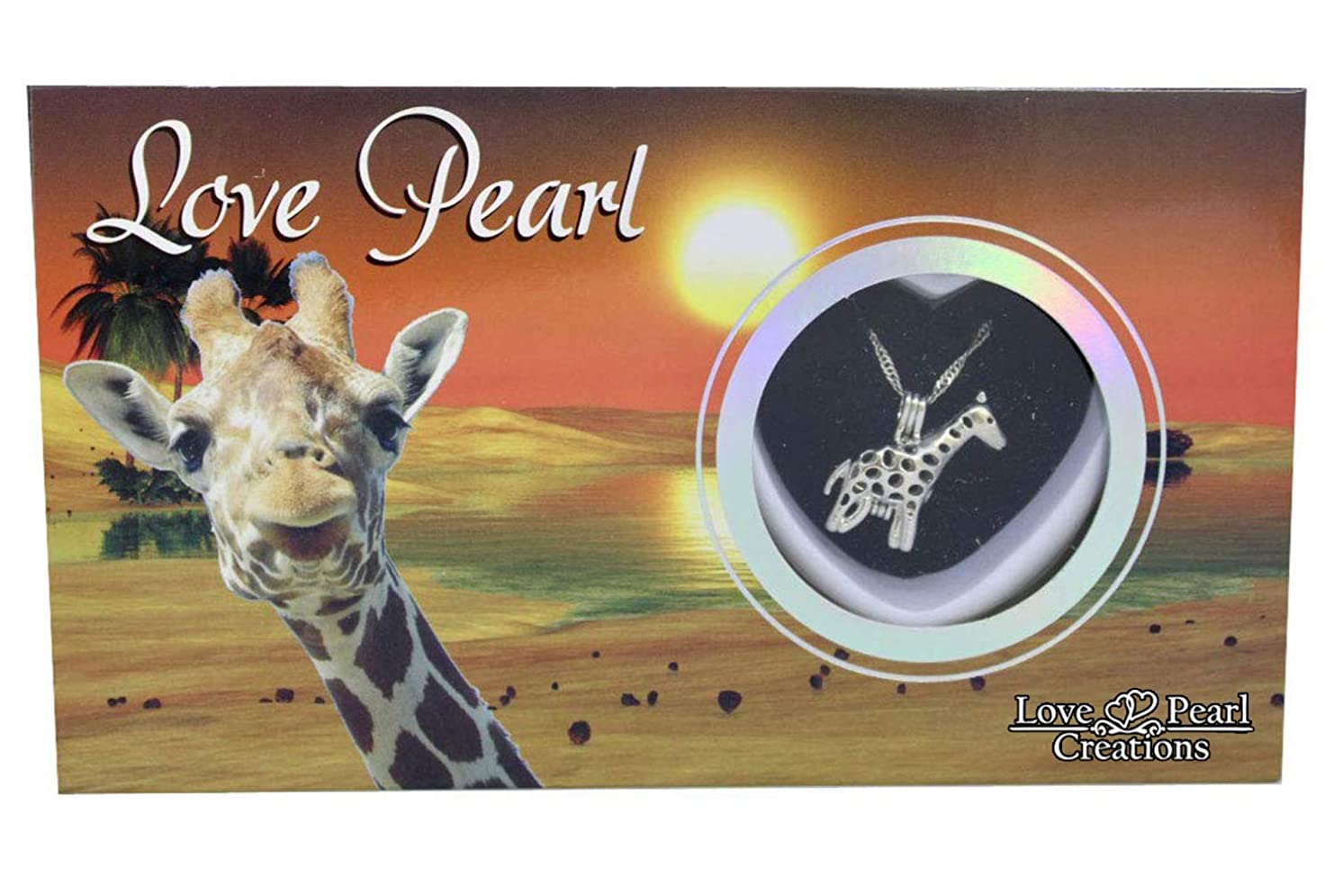 Love Pearl Creations Animals Wish Kit with Pendant Necklace (Giraffe)