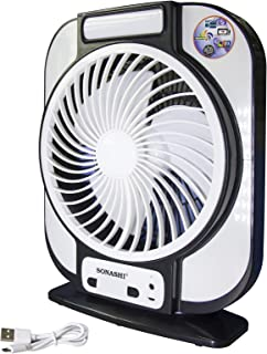 Sonahi 7 inch Rechargeable Fan - Black & White