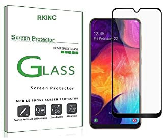 RKINC forSamsung Galaxy A70Screen Protector, [1 Pack] Full Coverage Tempered Glass Clear Screen Protector [9H Hardness][3D Round Edge][0.33mm Thickness] forSamsung Galaxy A70, Black
