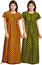 Trendy Fab Women's Cotton Printed Nighty (Multi Color) Pack of 2 Pcs