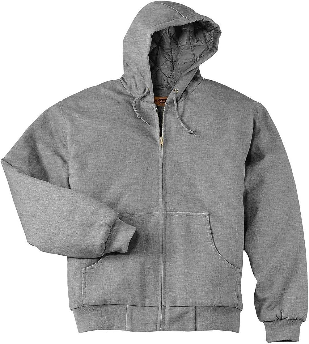 Cornerstone Heavyweight Full Zip Thermal Hooded Sweatshirt Japan Maker New Popular with