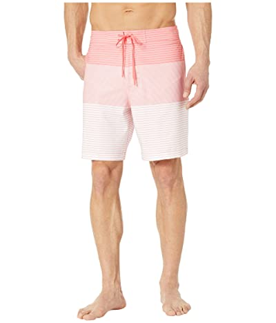 Southern Tide Variegated Stripe Water Shorts (Sunkist Coral) Men