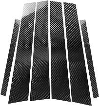 Carbon Fiber Door Window B+C Pillar Post Panel Frame Decal Cover Trim for BMW 3 Series 4th E46 320i 325i 330i 335i 340i M3 1998-2006