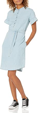 Marca Amazon - Goodthreads Denim Flutter-sleeve Dress - dresses Mujer