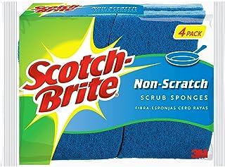3M Éponges Scotch-Brite: non-scratch scrub sponge / 4-pack (Bleu) non-scratch / 4-pack