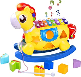 STOTOY Baby Musical Toys 12-18 Months,Cute Pony Baby Newborn Toy for 1 Year Old Boy Christmas Birthday Gifts Toy, with Sou...