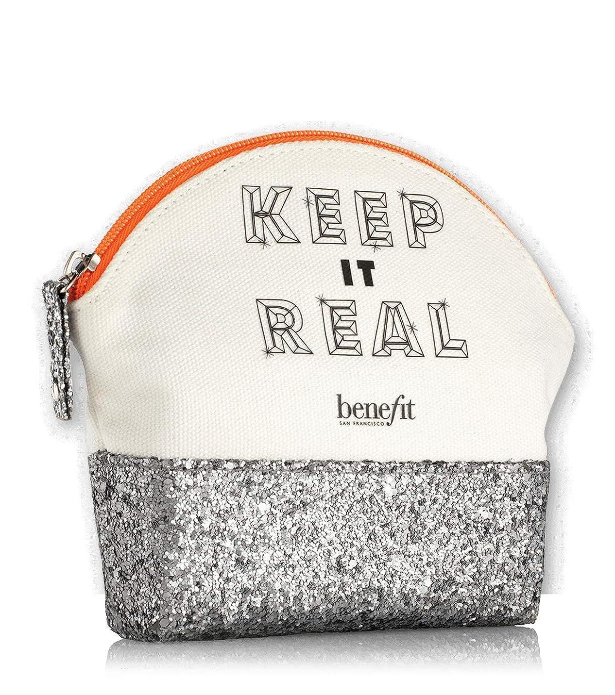 地球遠足ポータルBenefit Cosmetics Keep It Real Makeup Gift Glitter & Canvas Bag [並行輸入品]