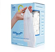 WYSI Multi-Purpose Expandable Wipes and Travel Tube, Just Add Water - 500 Compressed Tablets