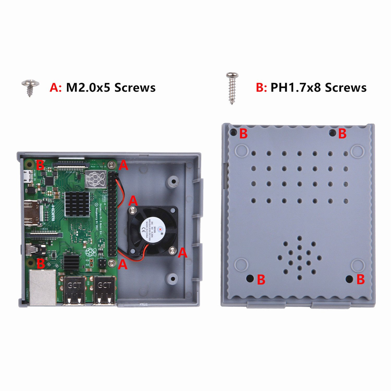 GeeekPi Raspberry Pi 3 B + Caja con ventilador, SNESPI Caja NES ...