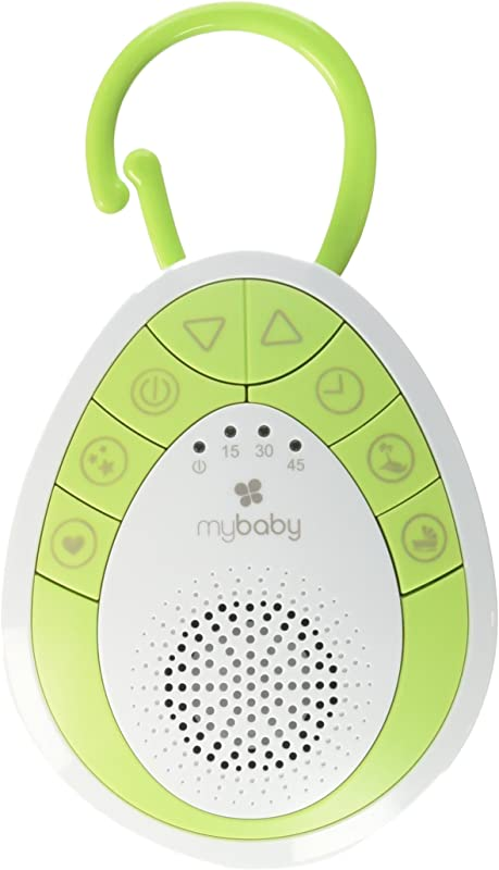MyBaby Soundspa On The Go Plays 4 Soothing Sounds Includes Clip For Strollers Diaper Bags Car Seats Cribs Auto Off Timer Lightweight Perfect For Busy Moms MYB S110