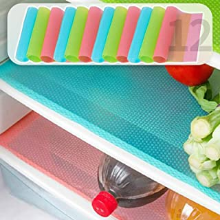 MayNest 12Pcs Refrigerator Mats, Waterproof Non-Slip Anti-Mildew EVA Refrigerator Liner Pads, Also Great for Drawers Shelv...