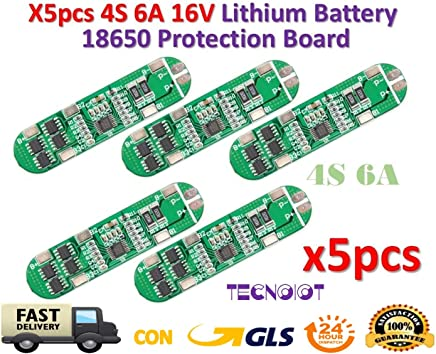BIlinli 5S 15A Li-Ion Lithium Battery 18650 Charger PCB BMS 18.5V Cell Protection Board