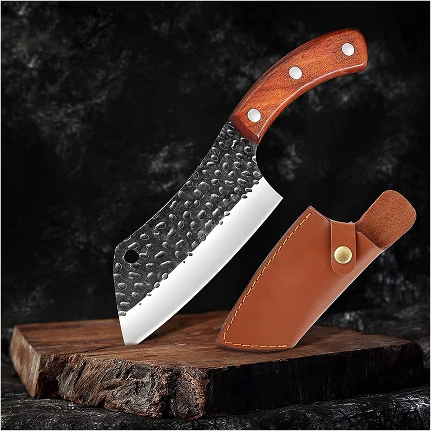 Meat Cleaver Luxury goods Kitchen Handmade Max 62% OFF Knife Forged