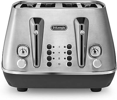 De'Longhi Livenza 4 Slice Toaster, Stainless, CTI4003M