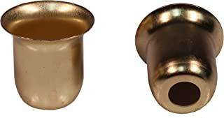 Creative Hobbies Metal Candle Cups fit Standard Tapered Wax Candles or Votive Pegs - Brass Color Finish - for Lamp or Candle Making ~ Pack of 20