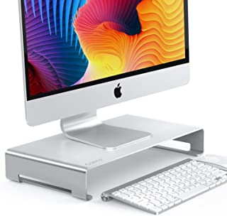 """ORICO Aluminum Monitor Stand, Unibody Computer Riser with Keyboard Storage Space, Desktop Stand Base up to 27"""" Screens for..."""