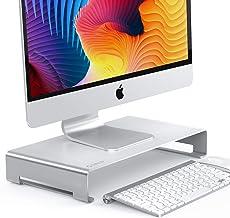 ORICO Soporte Monitor de Aluminio, Soporte Pantalla Ordenador con Organizador de Almacenamiento para Teclado y Mouse para ...