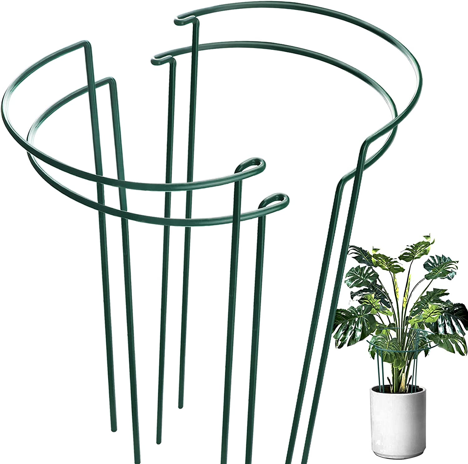 HiGift 4 Popular product Pack Plant Support Stake Indianapolis Mall Metal for Garden Ring Stakes