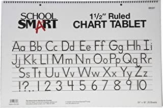 School Smart Chart Tablet, 24 x 16 Inches, 1-1/2 Inch Skip Line, 25 Sheets