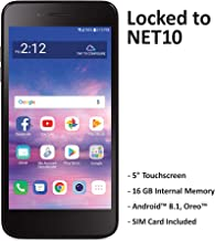 Net10 Carrier-Locked LG Rebel 4 4G LTE Prepaid Smartphone – Black – 16GB..