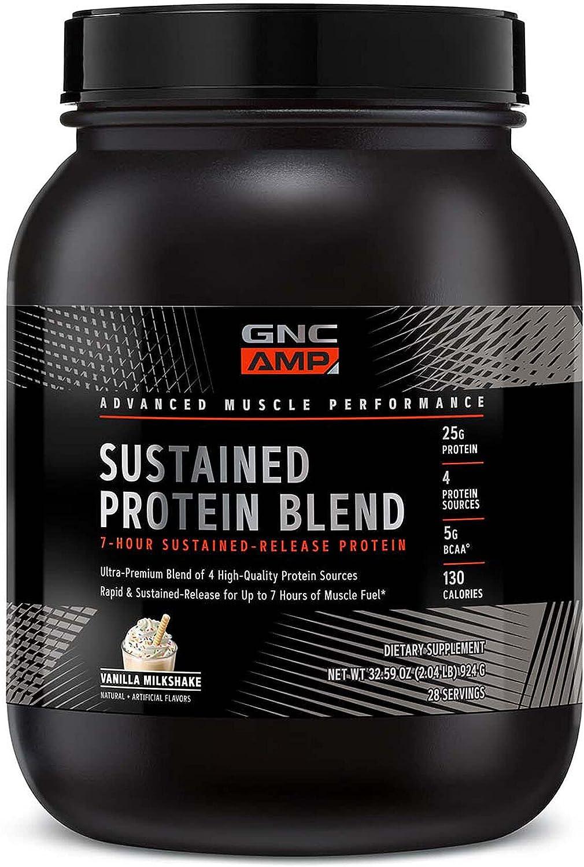 Miami Mall GNC AMP Sustained Protein Blend - 28 Servings Vanilla Milkshake Translated